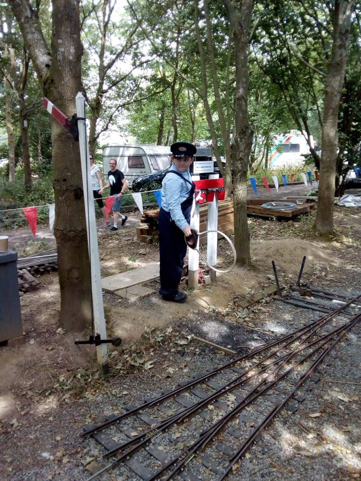 top field light railway whitwell and reepham rally 2018 signal box