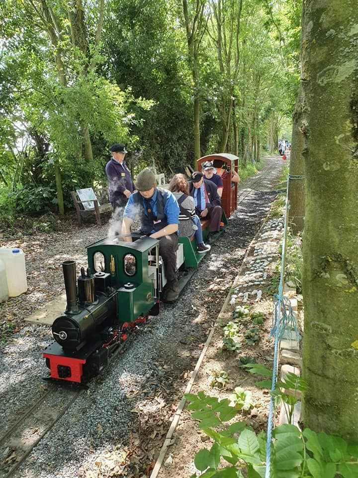 top field light railway at Whitwell and reepham rally feldbahn 2019