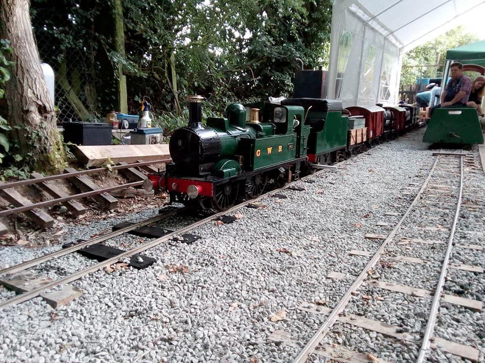 top field light railway goods train