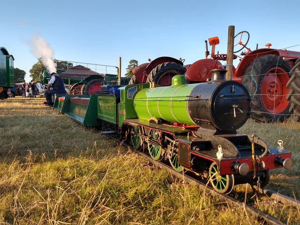 top field light railway at grand henham steam rally 2019 with K2
