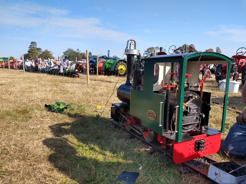 top field light railway at grand henham steam rally 2019 with felbahn