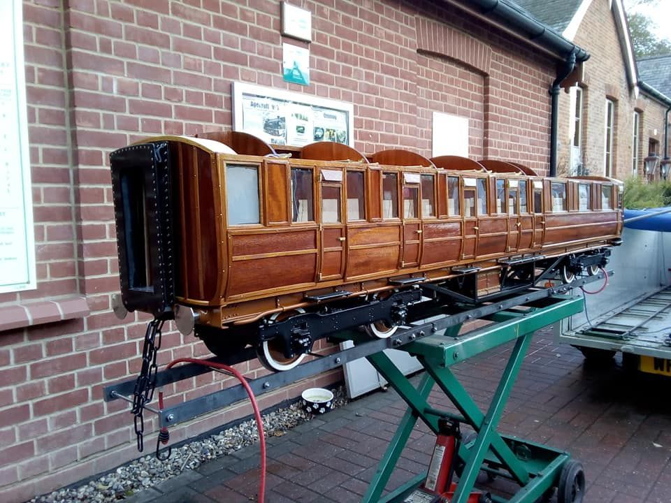 top field light railway LNER coach