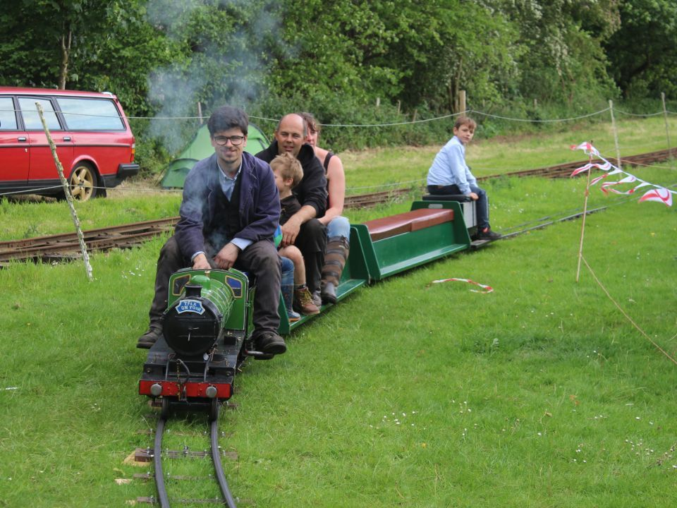 top field light railway at strumpshaw 2019 with passengers