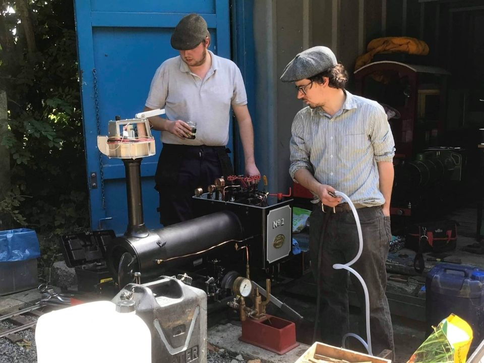top field light railway tihany hyrdrolic boiler test